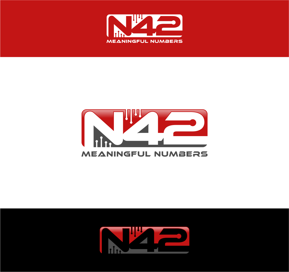 Logo Design by haidu - Entry No. 175 in the Logo Design Contest Artistic Logo Design for Number 42.