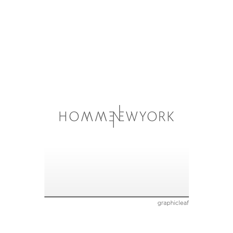 Logo Design by graphicleaf - Entry No. 104 in the Logo Design Contest Artistic Logo Design for HOMME | NEW YORK.