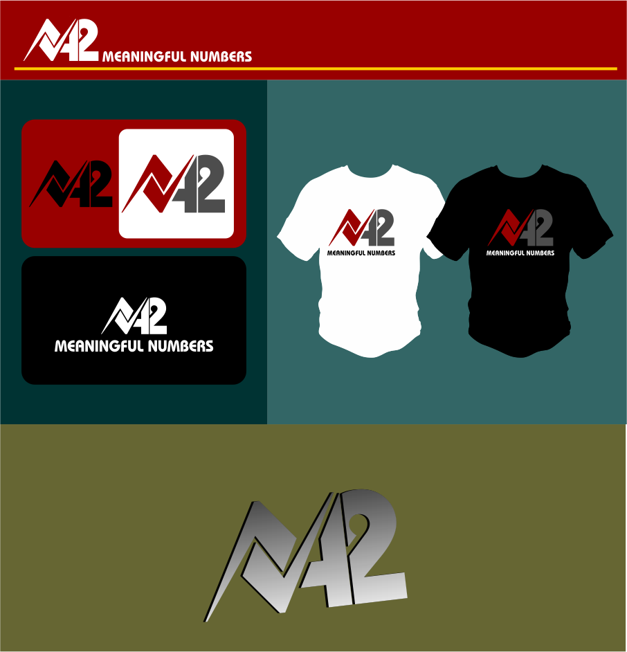 Logo Design by Agus Martoyo - Entry No. 179 in the Logo Design Contest Artistic Logo Design for Number 42.