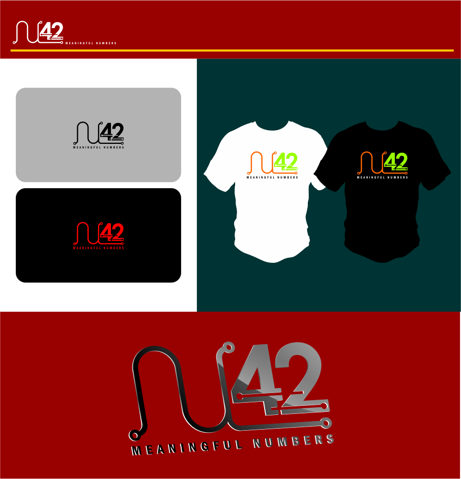 Logo Design by Agus Martoyo - Entry No. 182 in the Logo Design Contest Artistic Logo Design for Number 42.