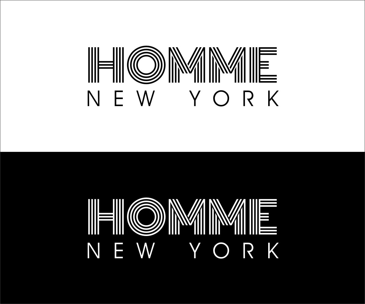 Logo Design by RasYa Muhammad Athaya - Entry No. 115 in the Logo Design Contest Artistic Logo Design for HOMME | NEW YORK.