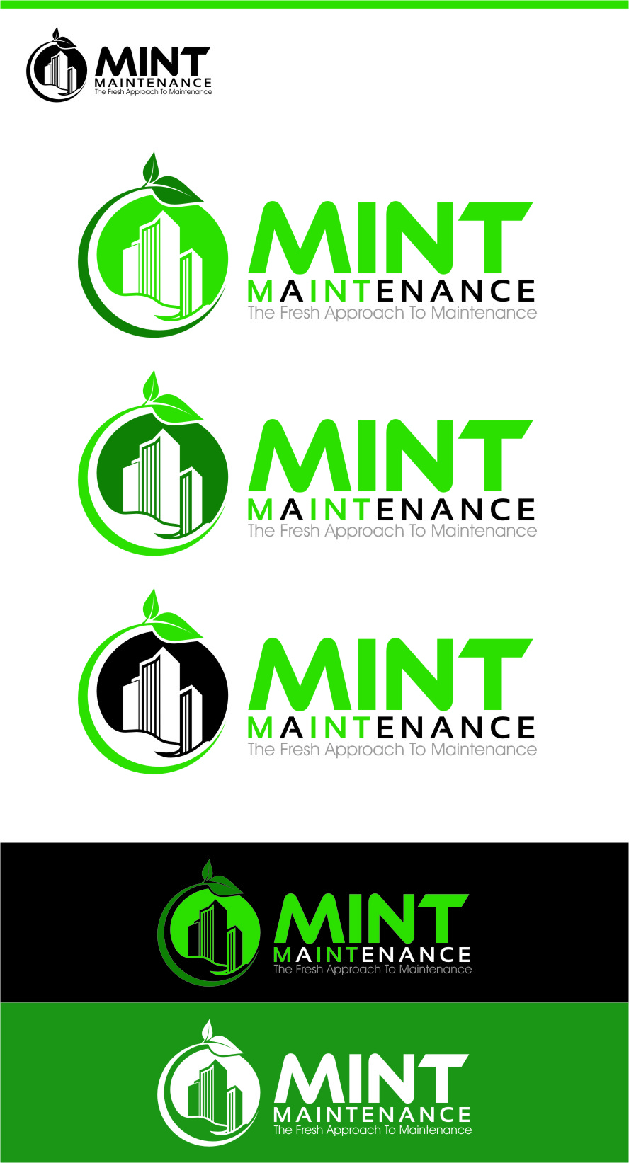 Logo Design by RasYa Muhammad Athaya - Entry No. 175 in the Logo Design Contest Creative Logo Design for Mint Maintenance.