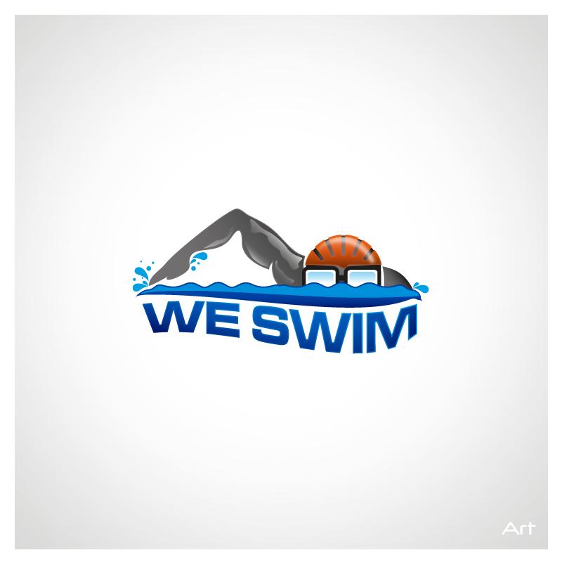 Logo Design by Puspita Wahyuni - Entry No. 31 in the Logo Design Contest Captivating Logo Design for We Swim.