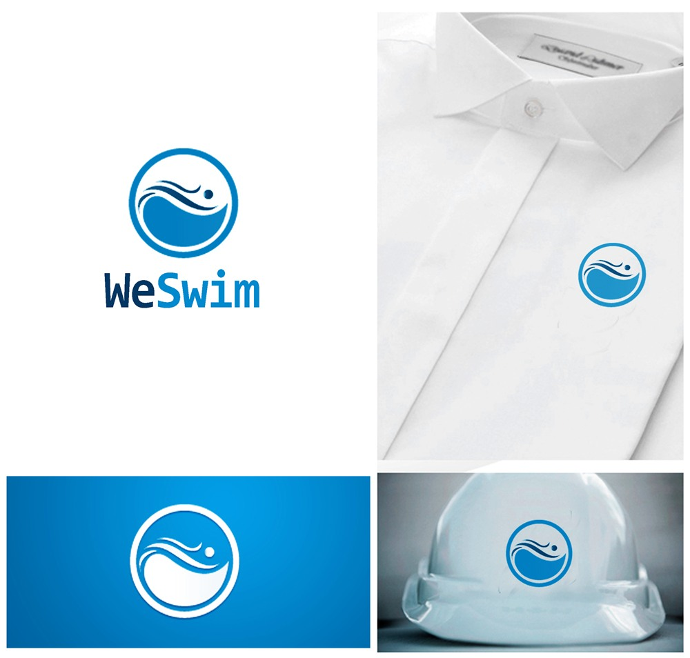 Logo Design by Respati Himawan - Entry No. 41 in the Logo Design Contest Captivating Logo Design for We Swim.
