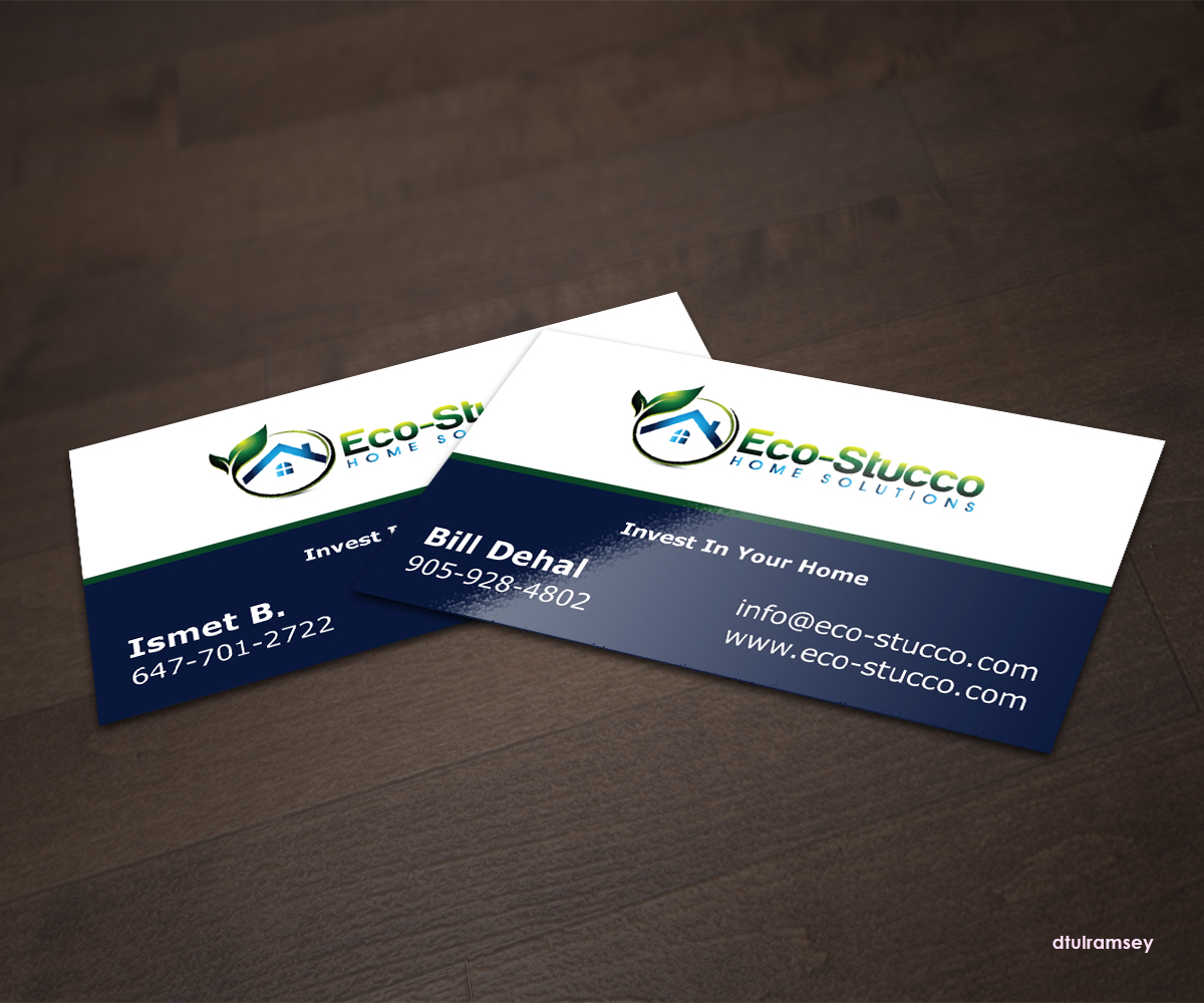 Business Card Design by dtulramsey - Entry No. 1 in the Business Card Design Contest Inspiring Business Card Design for Eco-Stucco Home Solutions.