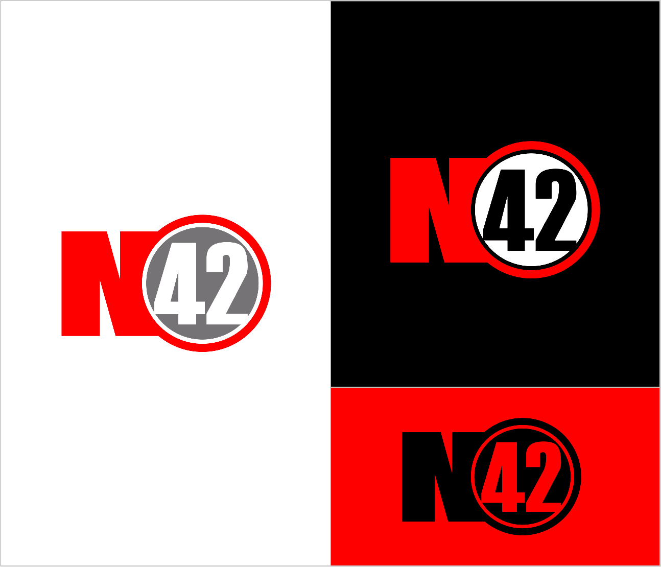Logo Design by Armada Jamaluddin - Entry No. 199 in the Logo Design Contest Artistic Logo Design for Number 42.
