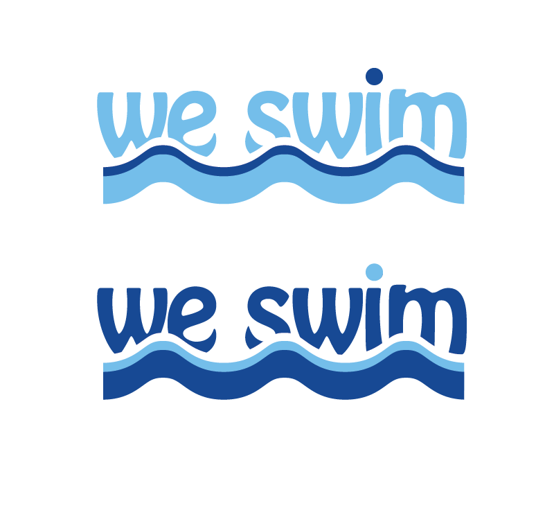Logo Design by Christina Evans - Entry No. 44 in the Logo Design Contest Captivating Logo Design for We Swim.