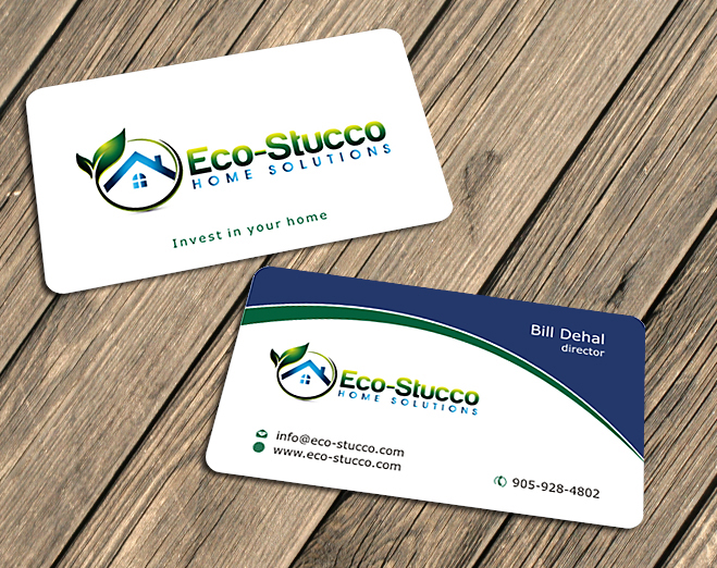 Business Card Design by Private User - Entry No. 2 in the Business Card Design Contest Inspiring Business Card Design for Eco-Stucco Home Solutions.