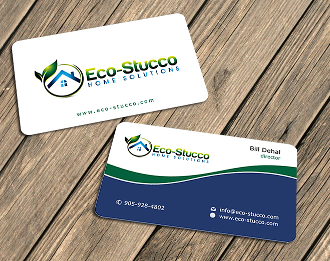 Business Card Design by Private User - Entry No. 4 in the Business Card Design Contest Inspiring Business Card Design for Eco-Stucco Home Solutions.