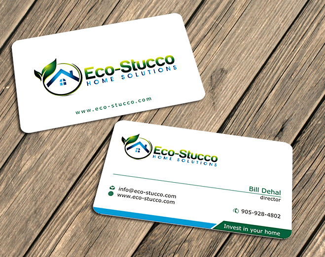 Business Card Design by Private User - Entry No. 5 in the Business Card Design Contest Inspiring Business Card Design for Eco-Stucco Home Solutions.