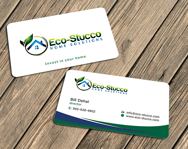Business Card Design by Private User - Entry No. 6 in the Business Card Design Contest Inspiring Business Card Design for Eco-Stucco Home Solutions.