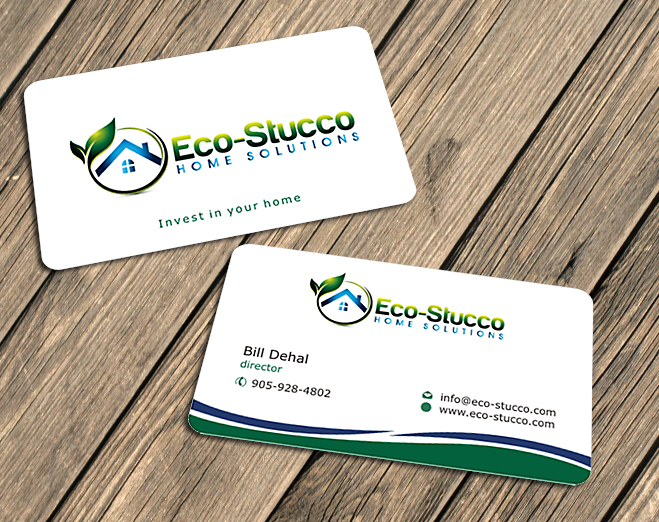 Business Card Design by Private User - Entry No. 8 in the Business Card Design Contest Inspiring Business Card Design for Eco-Stucco Home Solutions.