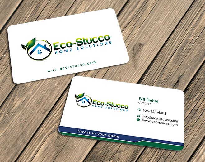 Business Card Design by Private User - Entry No. 10 in the Business Card Design Contest Inspiring Business Card Design for Eco-Stucco Home Solutions.