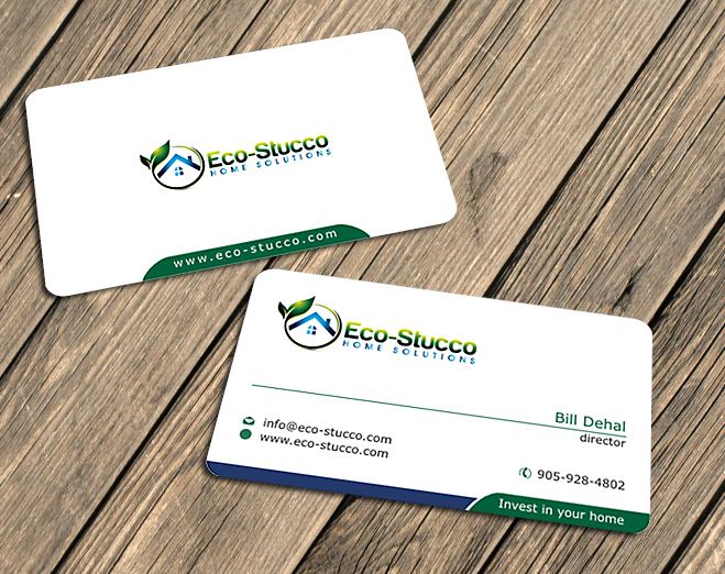 Business Card Design by Private User - Entry No. 11 in the Business Card Design Contest Inspiring Business Card Design for Eco-Stucco Home Solutions.