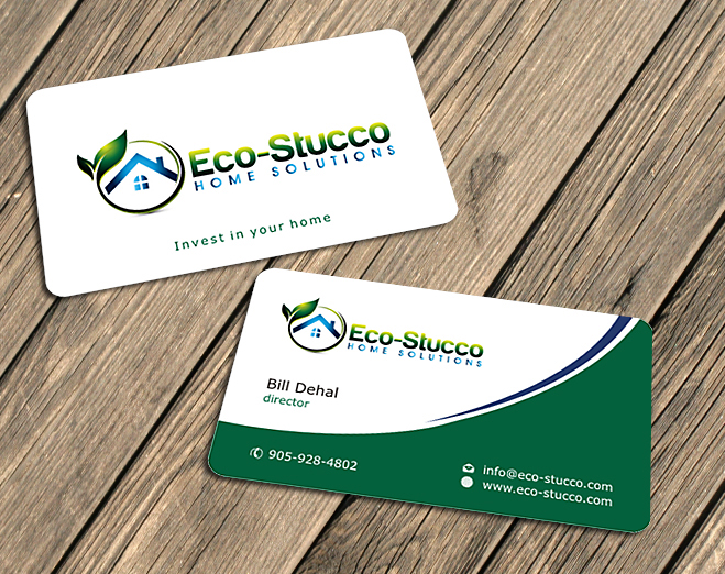 Business Card Design by Private User - Entry No. 12 in the Business Card Design Contest Inspiring Business Card Design for Eco-Stucco Home Solutions.