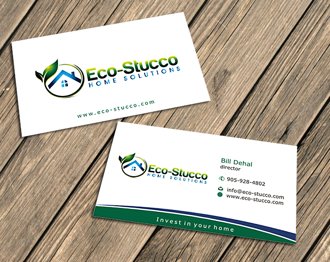 Business Card Design by Private User - Entry No. 13 in the Business Card Design Contest Inspiring Business Card Design for Eco-Stucco Home Solutions.