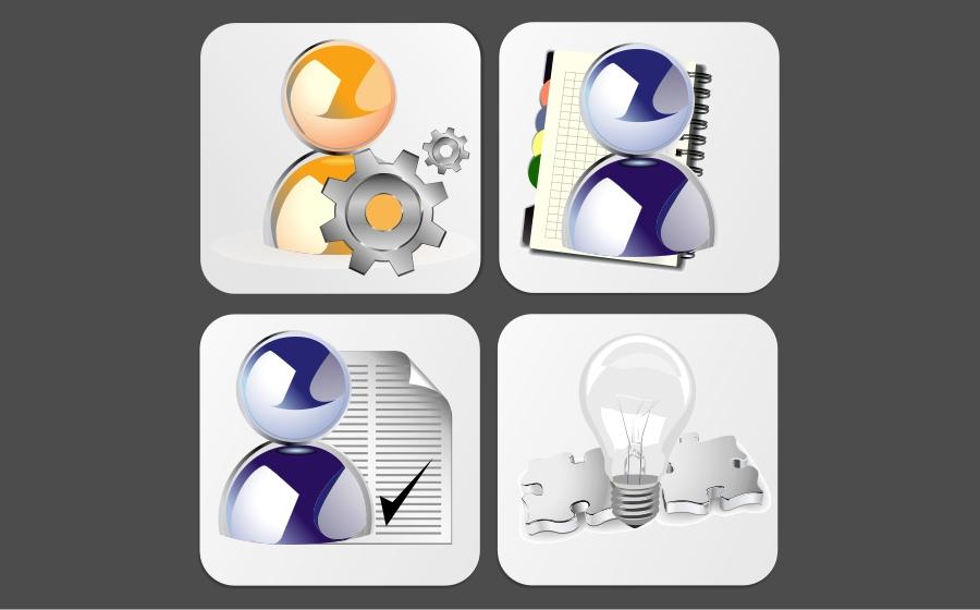 Button & Icon Design by Private User - Entry No. 1 in the Button & Icon Design Contest Creative Button & Icon Design for TradeTec Computer Systems Ltd..