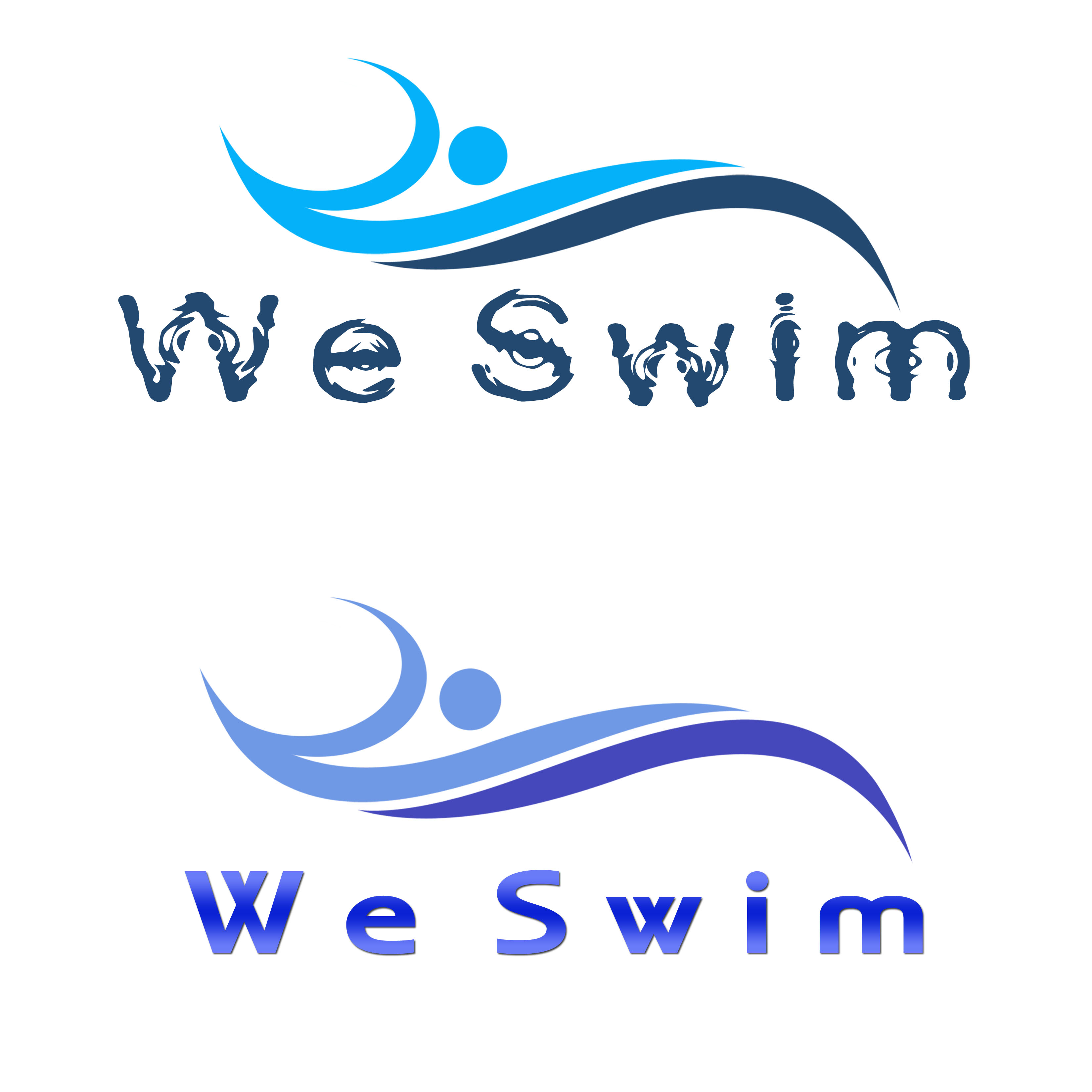Logo Design by Allan Esclamado - Entry No. 64 in the Logo Design Contest Captivating Logo Design for We Swim.