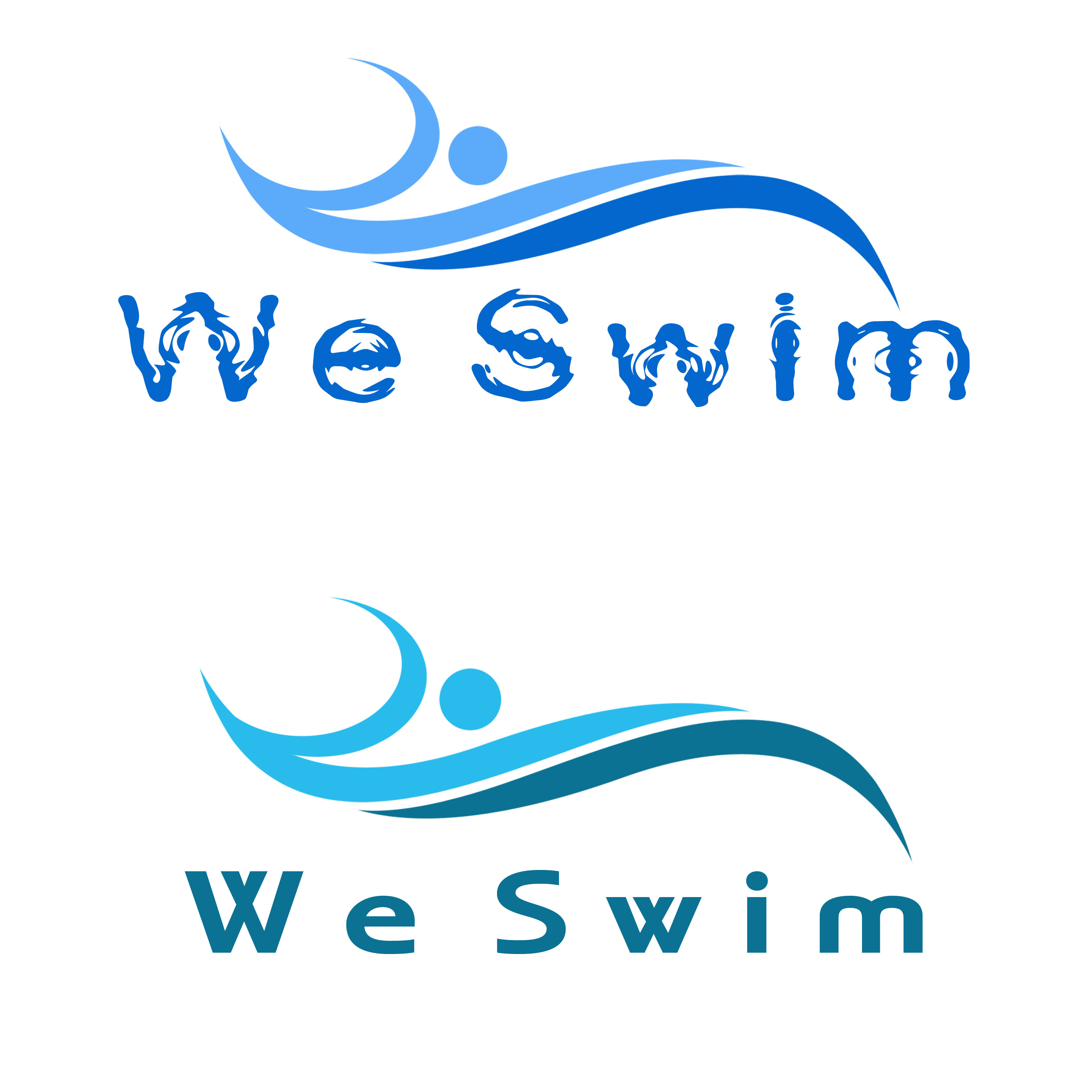 Logo Design by Allan Esclamado - Entry No. 65 in the Logo Design Contest Captivating Logo Design for We Swim.