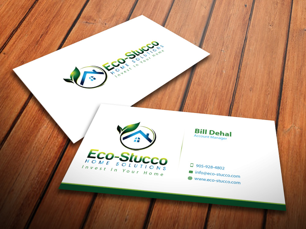 Business Card Design by mediaproductionart - Entry No. 14 in the Business Card Design Contest Inspiring Business Card Design for Eco-Stucco Home Solutions.