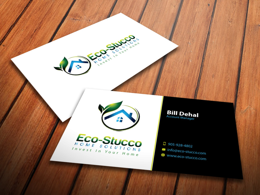 Business Card Design by mediaproductionart - Entry No. 15 in the Business Card Design Contest Inspiring Business Card Design for Eco-Stucco Home Solutions.