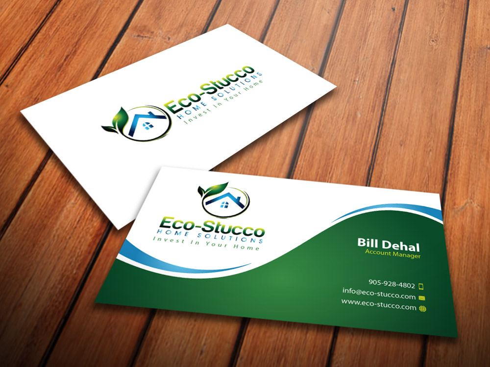 Business Card Design by mediaproductionart - Entry No. 16 in the Business Card Design Contest Inspiring Business Card Design for Eco-Stucco Home Solutions.