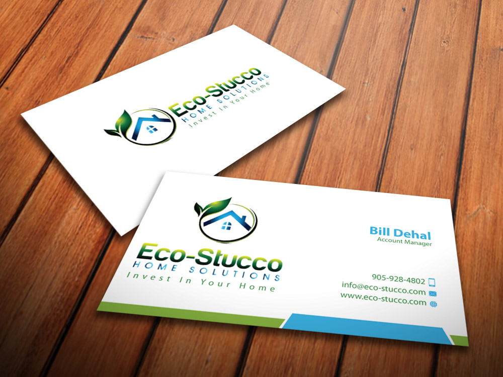 Business Card Design by mediaproductionart - Entry No. 17 in the Business Card Design Contest Inspiring Business Card Design for Eco-Stucco Home Solutions.