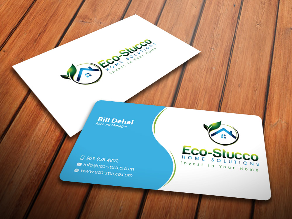 Business Card Design by mediaproductionart - Entry No. 20 in the Business Card Design Contest Inspiring Business Card Design for Eco-Stucco Home Solutions.
