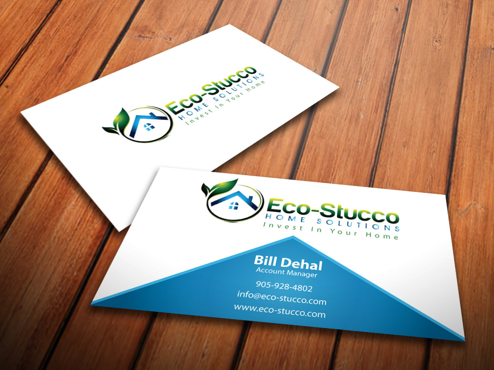Business Card Design by mediaproductionart - Entry No. 21 in the Business Card Design Contest Inspiring Business Card Design for Eco-Stucco Home Solutions.