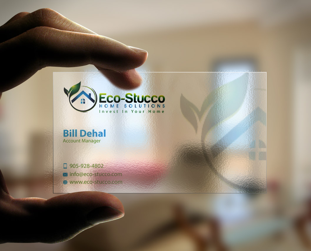 Business Card Design by mediaproductionart - Entry No. 22 in the Business Card Design Contest Inspiring Business Card Design for Eco-Stucco Home Solutions.