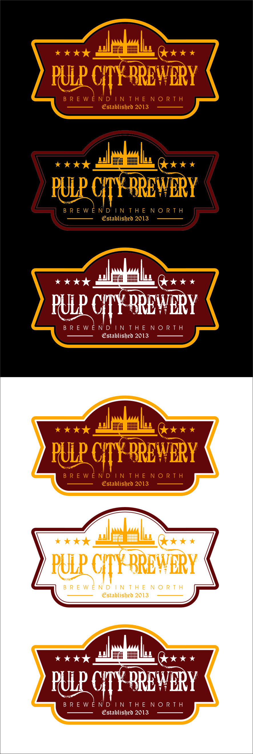 Logo Design by Ngepet_art - Entry No. 63 in the Logo Design Contest Artistic Logo Design for Pulp City Brewery.