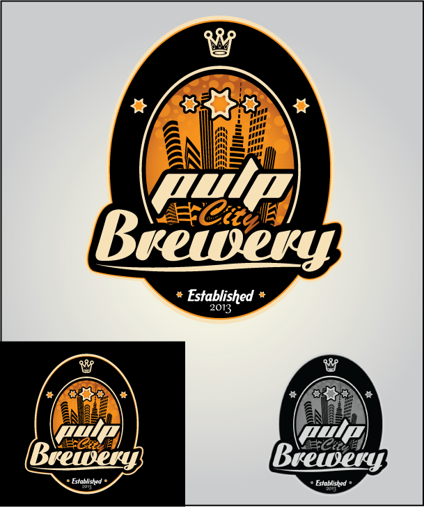 Logo Design by Ashesh Gaurav - Entry No. 64 in the Logo Design Contest Artistic Logo Design for Pulp City Brewery.