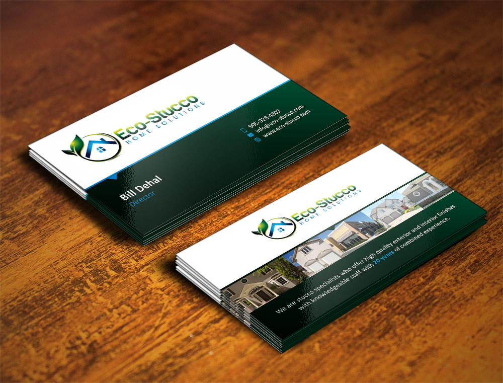 Business Card Design by Muhammad Aslam - Entry No. 25 in the Business Card Design Contest Inspiring Business Card Design for Eco-Stucco Home Solutions.