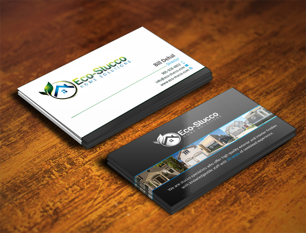 Business Card Design by Muhammad Aslam - Entry No. 26 in the Business Card Design Contest Inspiring Business Card Design for Eco-Stucco Home Solutions.