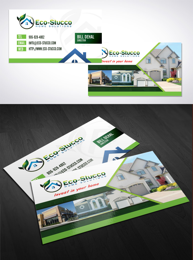 Business Card Design by Puspita Wahyuni - Entry No. 30 in the Business Card Design Contest Inspiring Business Card Design for Eco-Stucco Home Solutions.