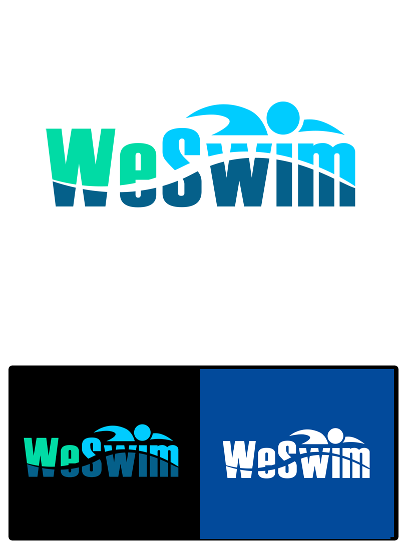 Logo Design by Private User - Entry No. 80 in the Logo Design Contest Captivating Logo Design for We Swim.