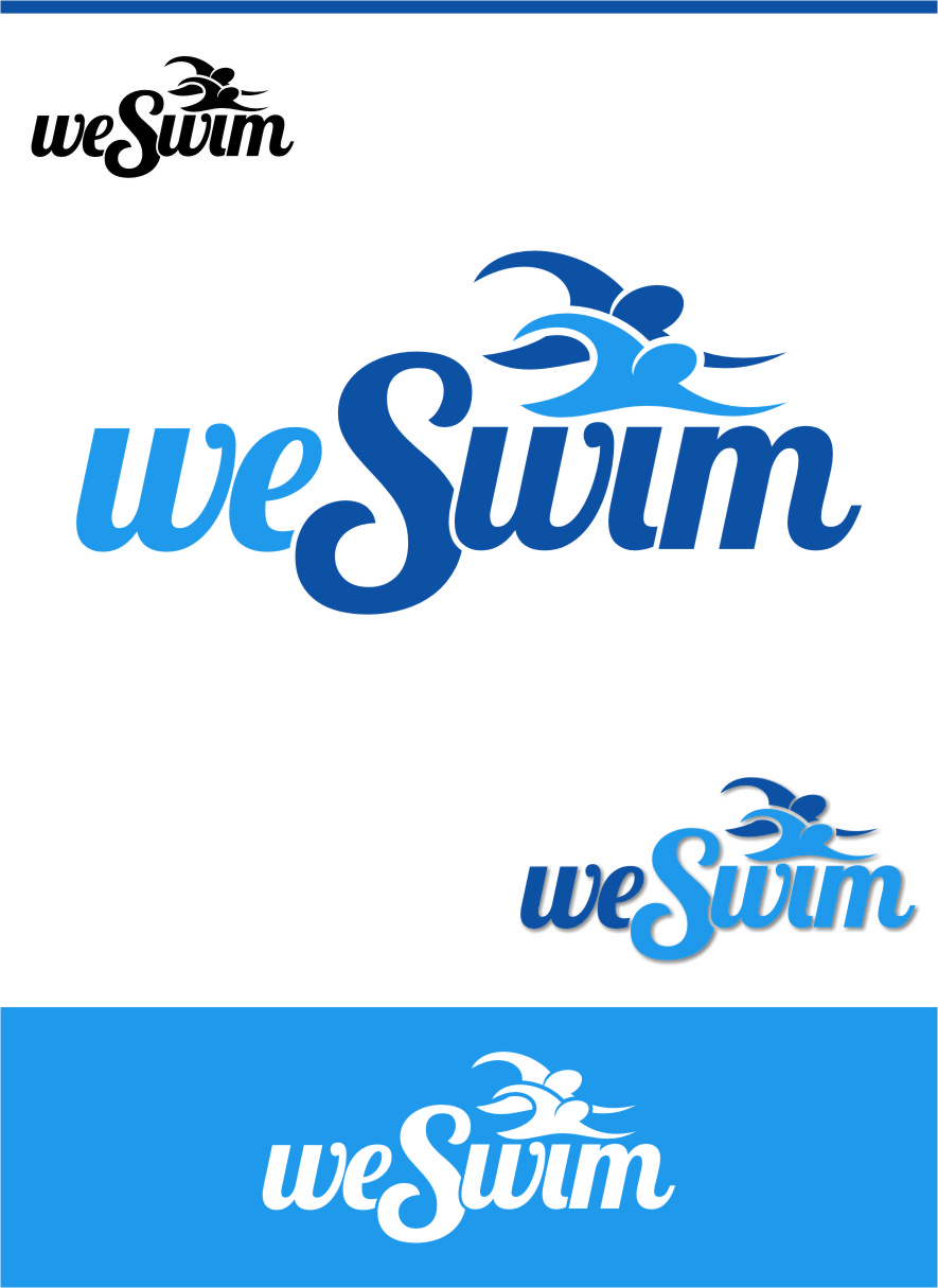 Logo Design by RoSyid Rono-Rene On Java - Entry No. 86 in the Logo Design Contest Captivating Logo Design for We Swim.