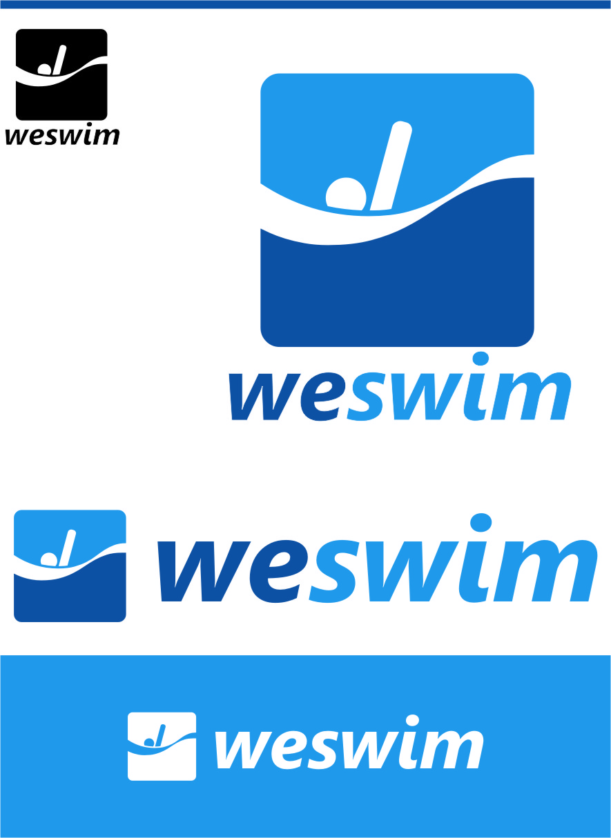 Logo Design by Ngepet_art - Entry No. 90 in the Logo Design Contest Captivating Logo Design for We Swim.