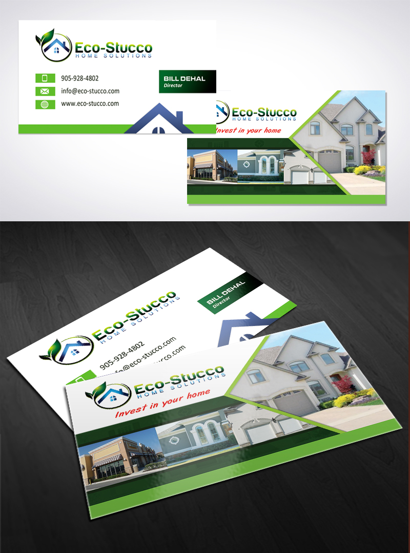 Business Card Design by Puspita Wahyuni - Entry No. 35 in the Business Card Design Contest Inspiring Business Card Design for Eco-Stucco Home Solutions.