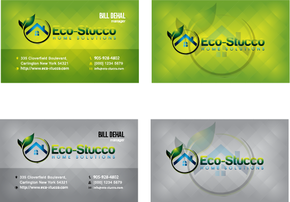 Business Card Design by Private User - Entry No. 37 in the Business Card Design Contest Inspiring Business Card Design for Eco-Stucco Home Solutions.