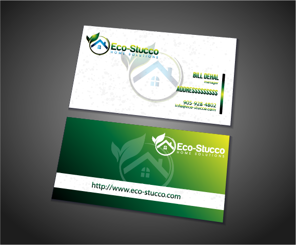 Business Card Design by Private User - Entry No. 38 in the Business Card Design Contest Inspiring Business Card Design for Eco-Stucco Home Solutions.