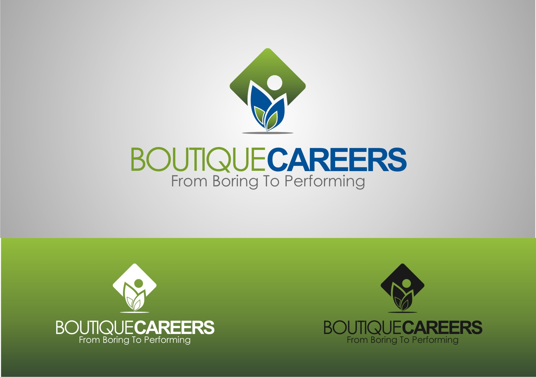 Logo Design by Private User - Entry No. 33 in the Logo Design Contest Captivating Logo Design for Boutique Careers.