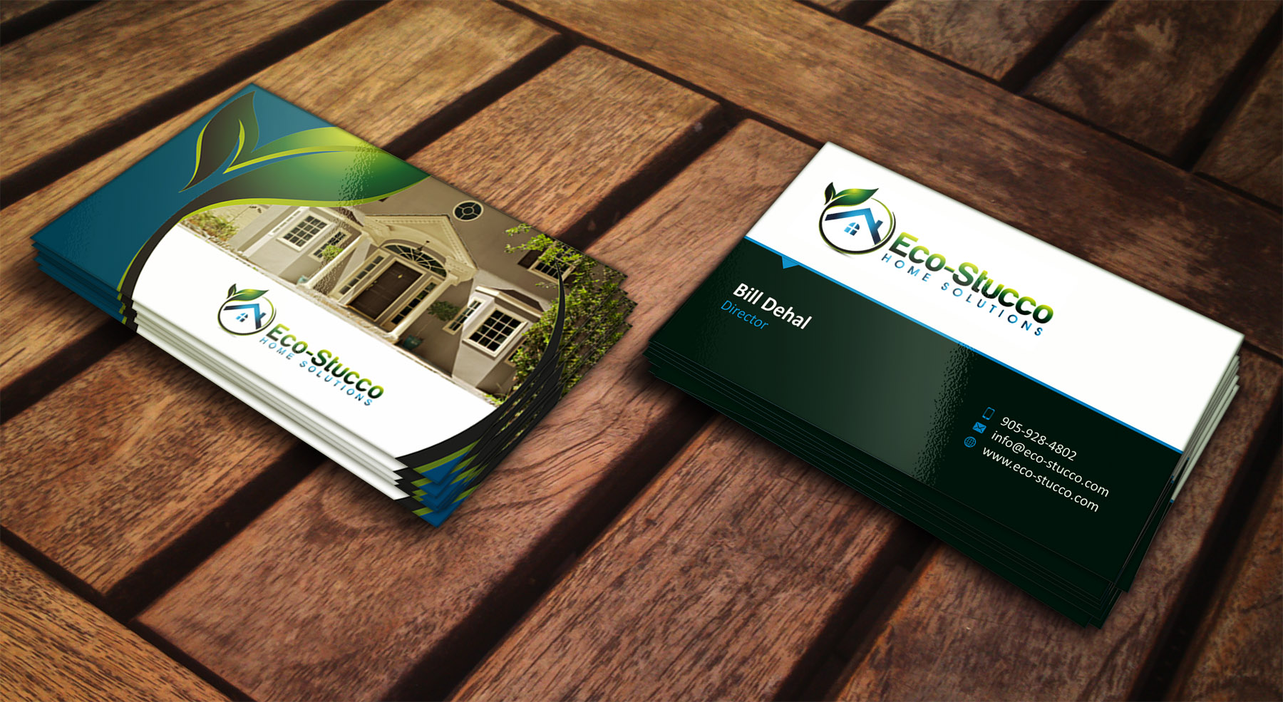 Business Card Design by Muhammad Aslam - Entry No. 42 in the Business Card Design Contest Inspiring Business Card Design for Eco-Stucco Home Solutions.