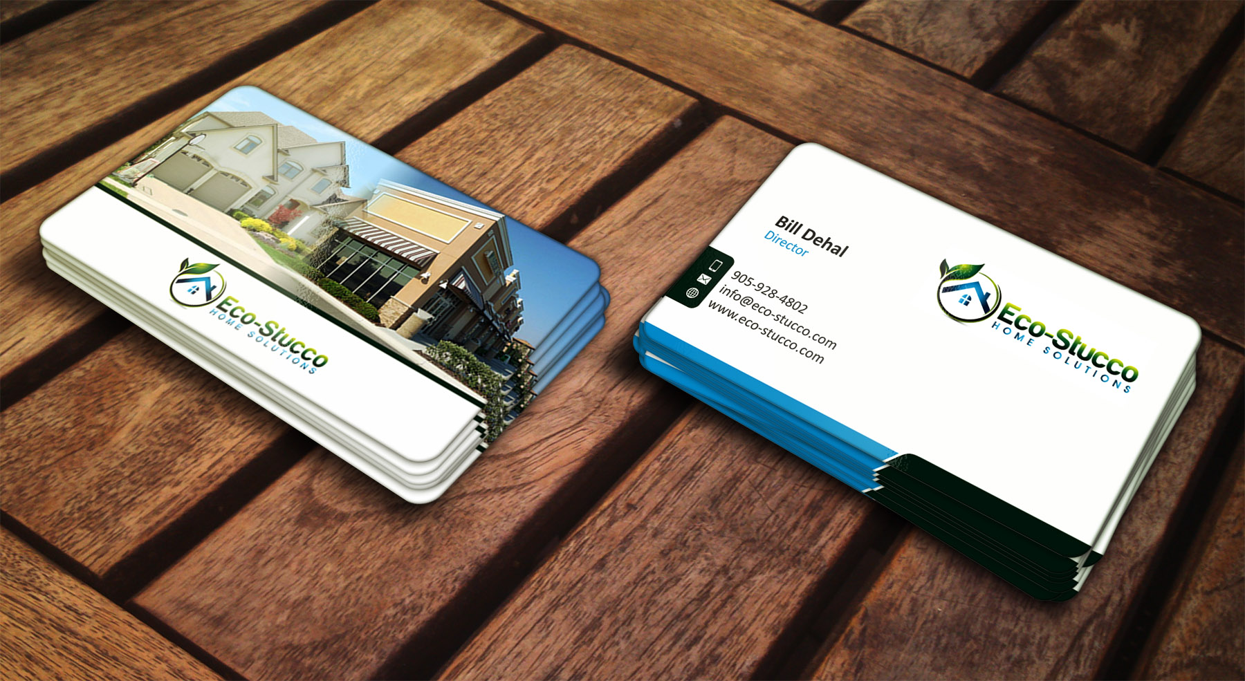 Business Card Design by Muhammad Aslam - Entry No. 44 in the Business Card Design Contest Inspiring Business Card Design for Eco-Stucco Home Solutions.