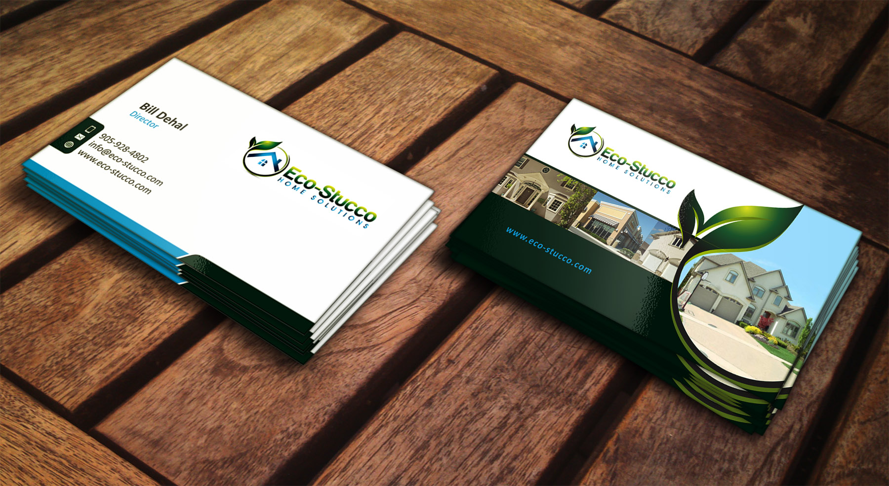 Business Card Design by Muhammad Aslam - Entry No. 46 in the Business Card Design Contest Inspiring Business Card Design for Eco-Stucco Home Solutions.