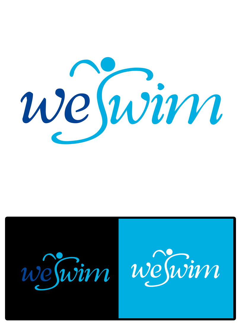 Logo Design by Private User - Entry No. 107 in the Logo Design Contest Captivating Logo Design for We Swim.