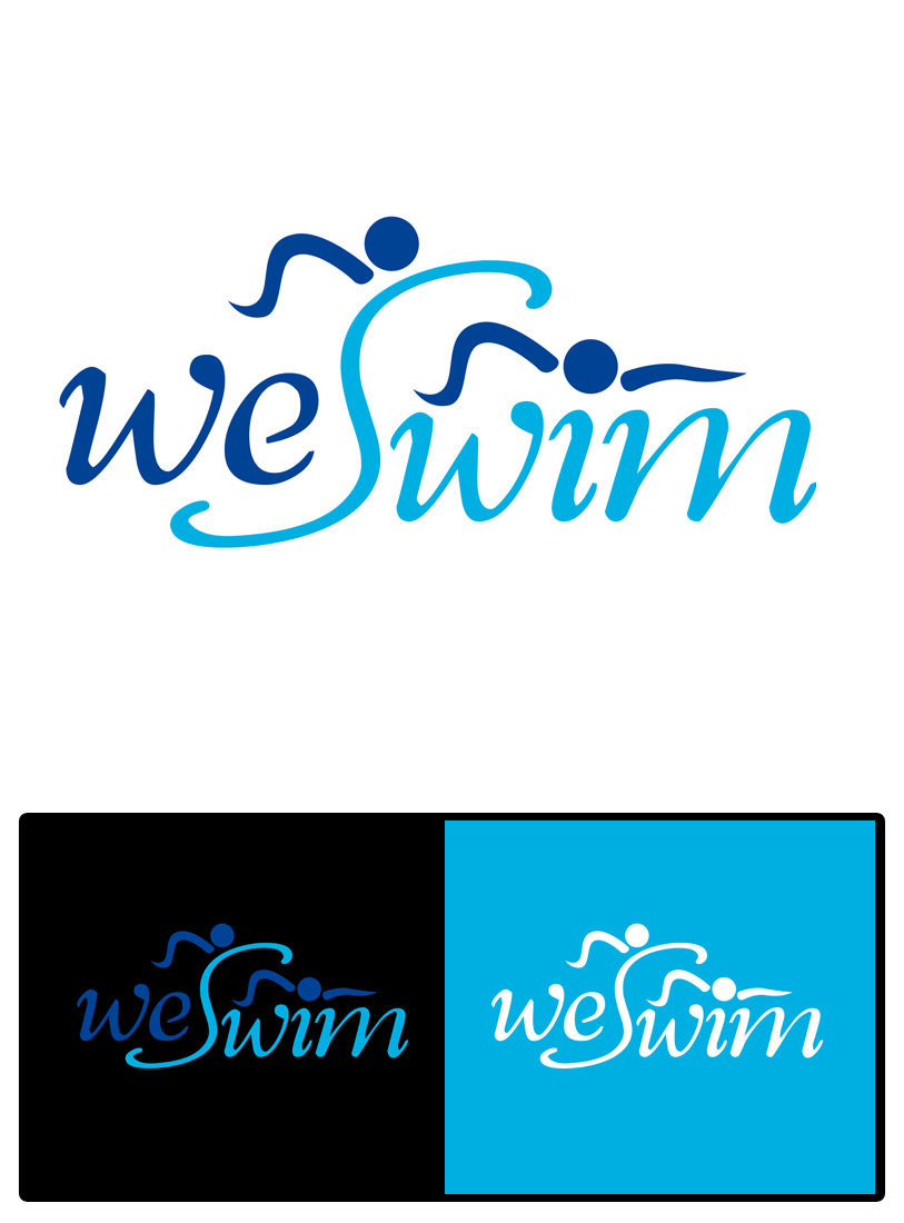 Logo Design by Private User - Entry No. 109 in the Logo Design Contest Captivating Logo Design for We Swim.