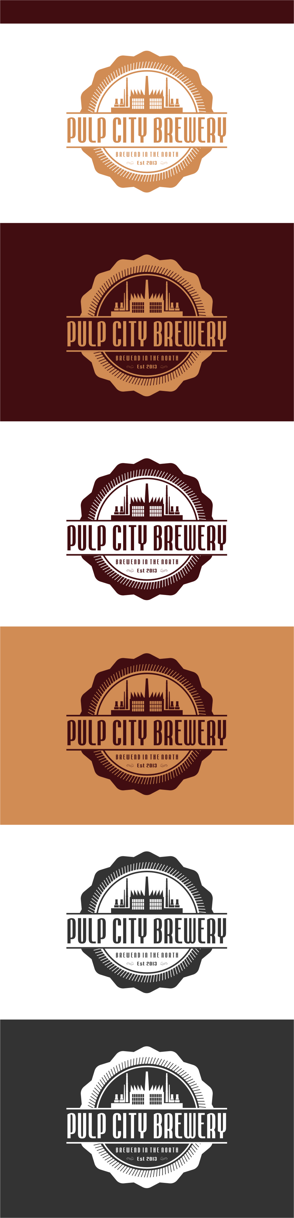 Logo Design by RasYa Muhammad Athaya - Entry No. 92 in the Logo Design Contest Artistic Logo Design for Pulp City Brewery.