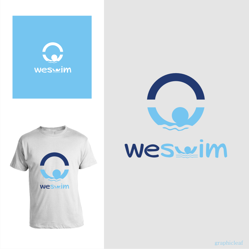 Logo Design by graphicleaf - Entry No. 114 in the Logo Design Contest Captivating Logo Design for We Swim.