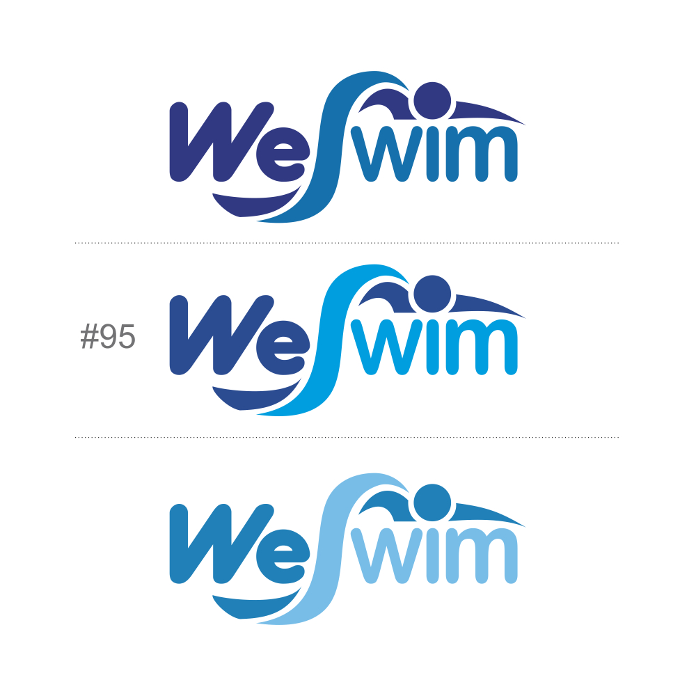 Logo Design by Private User - Entry No. 115 in the Logo Design Contest Captivating Logo Design for We Swim.